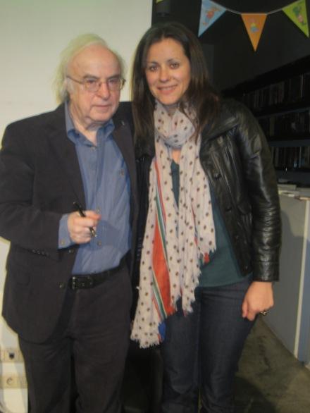 """Scriitorul Norman Manea, autorul romanului """"Intoarcerea huliganului"""", Ludmila Bulgar, editor CartierEuropean.com"""